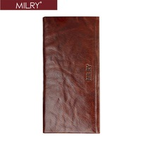 Free Shipping 2013 fashion Brand  New MILRY Genuine Leather  Men Wallet purse  money clip C0091