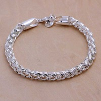 Free shipping 925 sterling silver jewelry bracelet fine fashion torsion circle bracelet top quality wholesale and retail SMTH070