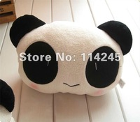 2 pairs /4pcs free shipping wholesale big cute cartoon panda head pillow Car Seat Neck / Head Pillow