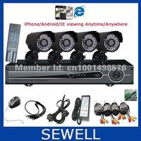 420TVL CMOS 4ch Kit CCTV DVR Day Night Waterproof Security Camera Surveillance Video System Home DIY CCTV systems