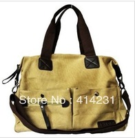 free shipping Nine-pin multifunctional canvas nappy bag mother bag one shoulder cross-body multi-pocket milk drop shipping