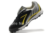 Tiebao Speed Mens  Football Soccer  Shoes ,sliver indoor rubber sole cleat,EUR38-EUR44