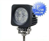 Aluminum IP67 waterproof offroad led driving light, 9-32V 12W LED work light for boat