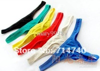 2pcs cheap convex pouch men's cotton male sexy G-Strings Thongs t-back