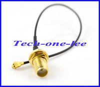 Free shipping 10pcs/lot Mini PCI U.FL to SMA connector Antenna WiFi Pigtail Cable IPX to SMA extension