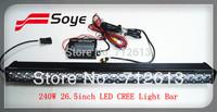 NEW arrival 26.5'' 240w Cree Led Light bar IP68, high power single row CREE LED bar light, offroad floodlight