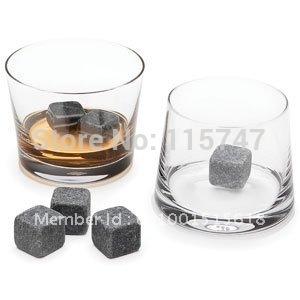 Черный виски камни 8 шт. комплект в бархатный мешок, Виски рок, Вино камни свадебного ...