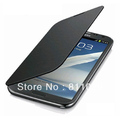Hot,NFC Battery Flip Leather case Cover For samsung galaxy note 2 N7100,10pcs/lot,free shipping