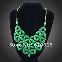 New Green Tessellate Bead Huge Star Flower Necklace 2012 Summer