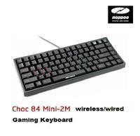 Mechanical Gaming Keyboard Noppoo Choc Mini-2M 84 keys wireless/wired backlight Red keyboard USB NKRO Cherry MX Red Switches