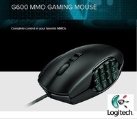 Gaming Mouse Computer Brand Mause Gamer Logitech G600 Professional Wired Programming MMO backlight Computer Accessories