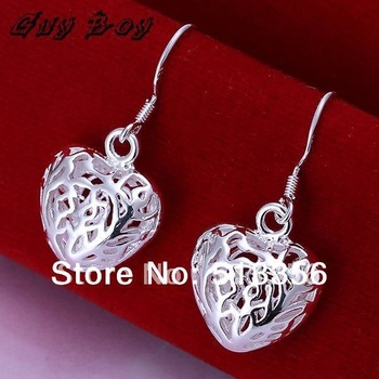 GSSPE021/ wholesale,high quality, small hollow out heart earring  date jewelry  /fashion jewelry,wholesale jewelry,