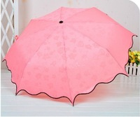 girl's umbrella wet umbrella shows pattern, anti-uv umbrella, rain gear  Free shipping
