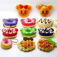 2015 HOT Clearance Sale Free Shipping Mobile Phone Strap Rilakkuma Squishy Charm Cute Squishy Bread Pendant Girl Gift