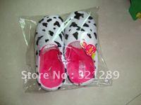 Wholesale Freeshipping warm cow flower slippers winter's slipper