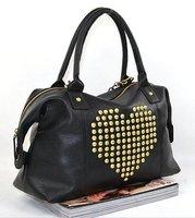 Hot Sale! LX-72, New Fashion Personalized PU Noble Rivet WomenHandbag Clutch Tote bag Women Shoulder Bag, 2012 FREE Shipping