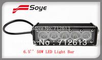 6'.5inch 50W cree led bar light IP68, super bright cree led chips, 4x4 driving cree led light bar offroad