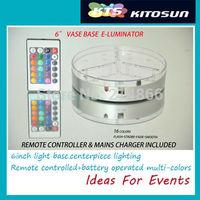 Battery operated Multi-color centerpiece light/vase lighting