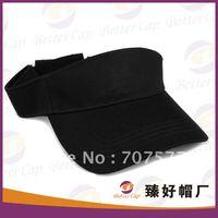 2012 black plain sun visor hat