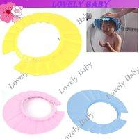 15Pcs/Lot Foam Soft Baby Safety Shampoo Shield Hat, kid's bath shower cap Free Shipping 4478