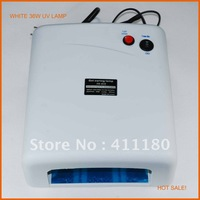 Free shipping! Hot sale style! 36W 220V Gel Curing Nail UV Lamp Polish Dryer with 4pcs 9W UV Light Bulb