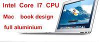 Intel I7 aluminium ultrabook laptop notebook computer 128GB SSD  W/option of 8GB DDR3 RAM