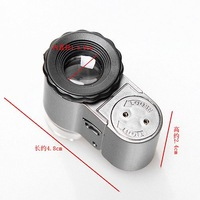 NO.9882A.50X Smallest Mini Digital Microscope With LED Lights Loupe Pocket Magnifier 40/pcs free shipping