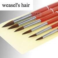 6 pcs pointed weasel's hair paint brush gouache watercolor brush dotting pen art supplies promotional product