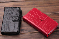 Folio Crocodile Genuine Leather Case for IPhone 5 5G Wallet Card Holder , 100pcs/lot DHL Free Shipping, wholesale/detail
