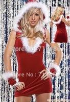 ML8018 Hot Selling Sexy and Naughty Santa Mini Dress Santas Helper  Lingerie Costume Christmas Costume