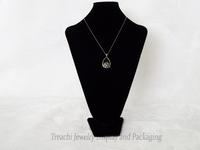 High Quality Jewelry Display Wooden Pendant Holder Large Necklace Stand Model Black Velvet Portrait Mannequin Bust