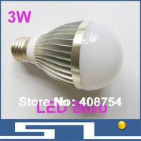 3W led light dimmable, high power led bulb lamp, E27 base, 300lm E27 B22 base bulbs, energy saving, free shipping, 20pcs/lot