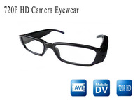 china post Free shipping HD 720 video camera eyewear glasses mini dvr camera withglasses video/sunglasses camera