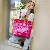 2013 new Warm down wmen bag, space bags for ladies ,quilted jacket hand bag,freeshippng