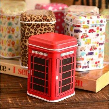 Free Shipping/New vintage style house shape quality iron case / storage case / tin box