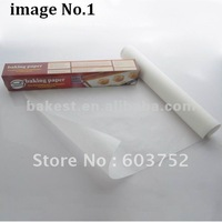 Free Shipping 30cm wide 10m Hot sale non stick disposable greaseproof barbecue paper wrappping paper baking cookie roller paper