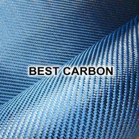 High quality Blue Hybrid Carbon Fabric , Carbon-Aramid Fabric  ,Carbon-Kevlar Fabric