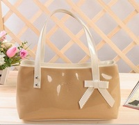 Free postage for leather ladies handbags 2014 new candy color shoulder bag