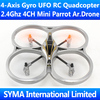 2.4Ghz 4CH Mini Parrot AR.Drone VS V929 V939 V949 Quadcopter Quadricopter 4-Axis GYRO One Key 3D Tumbling Flip UFO RC Helicopter