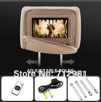 2013 New Free shipping 2X7 inch  car DVD Headrest