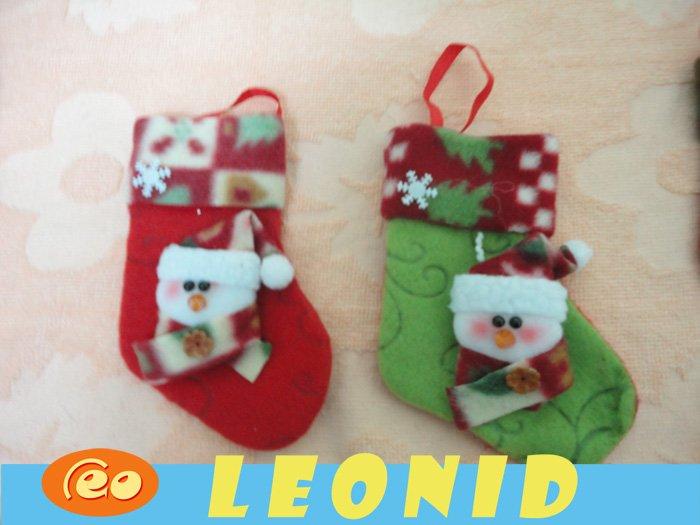 200pcs/lot Christmas stocking Fabric Reindeer/santa claus Pendant Xmas gift Ornaments candy bag wholesale leonid shop(China (Mainland))