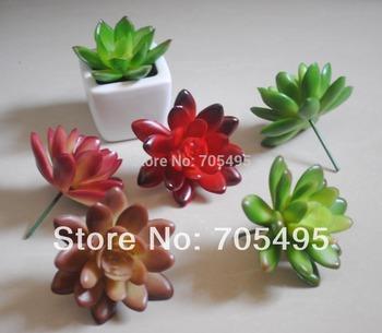 Free Shipping 7cm Artificial Echeveria Bare Pick Succulent Plant Picks