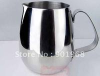 12pcs per lot  stainless steel Latte milk jug-milk pot-350ml