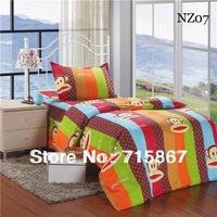 Promotion more items  twin size children bedding sets ,cartoon Duvet Cover set  Bed sheet Pillowcase,free shipping