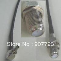 CRC9 male to F female nut bulkhead RG174 jump cable Huawei Modem 15cm