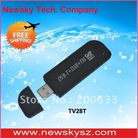 Hot Selling! Mini ISDB-T TV tuner TV28T Support FM&DAB&SDR With RTL2832+R820T Chipset Hongkong Post Shipping