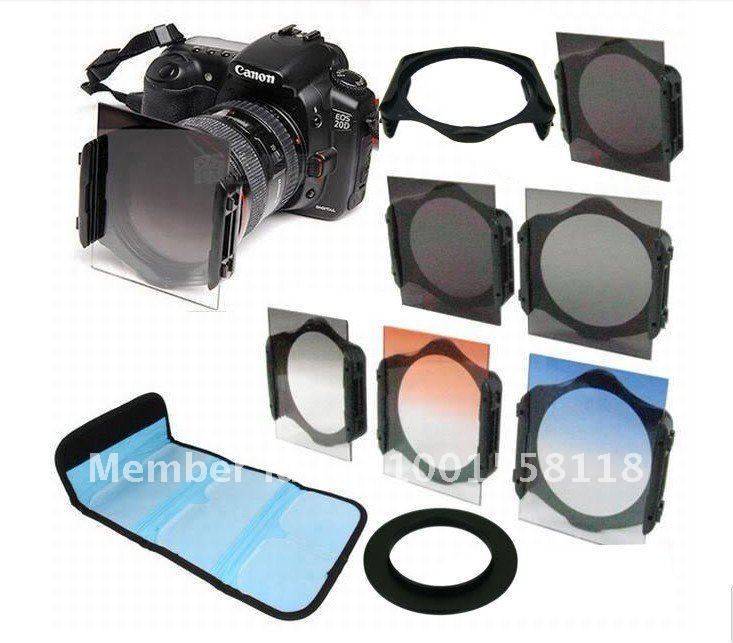 77mm ring adapter +filter holder +filter case +ND2 ND4 ND8+Graduated Orange Blue Gray filter for Cokin P series+free shipping(China (Mainland))