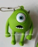Green monocular cartoon USB flash drive 4GB 8GB 16GB 32GB/car/key/doctor/gift guitar memory stick drive free shipping