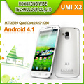 2013  New Original UMI X2  Phone MTK6589T Quad Core 2GB RAM 5.0 Inch IPS 1080P Retina Screen Android 4.2 13MP Camera 32GB 1.5GHZ