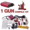 Professional Tattoo Kit Set 1 Tattoo Machine Guns Color Inks Power Supply body art China post Free shipping